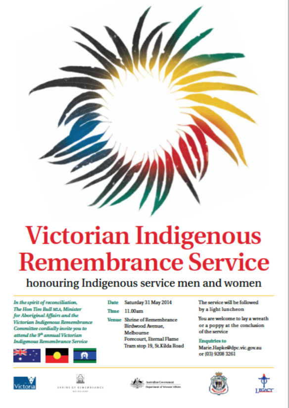Victorian Indigenous Remembrance Service 2014